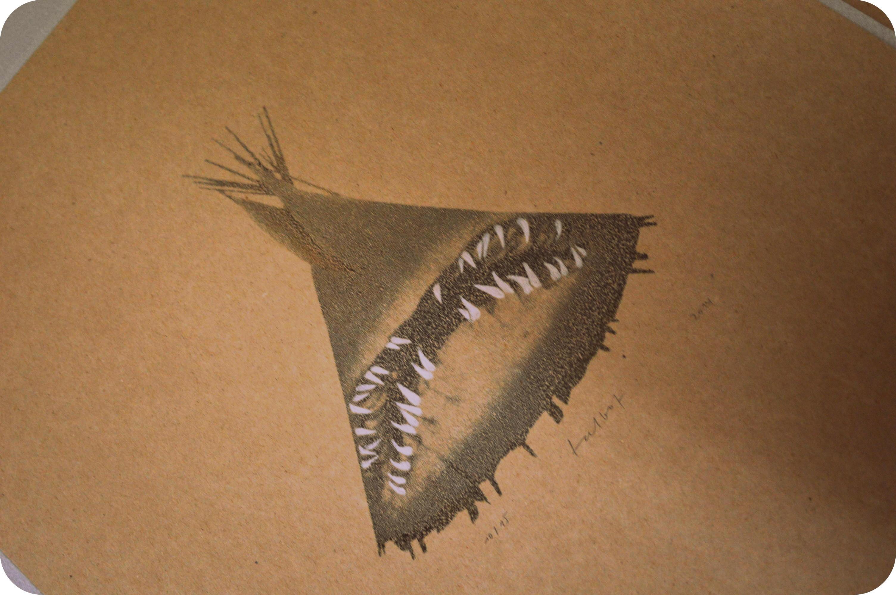 Ein Tipi-Hai (Talbotypie)