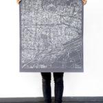 """Heimat: """"Karlsruhe-Karte von Larissa und Michelle Mantel"""""""
