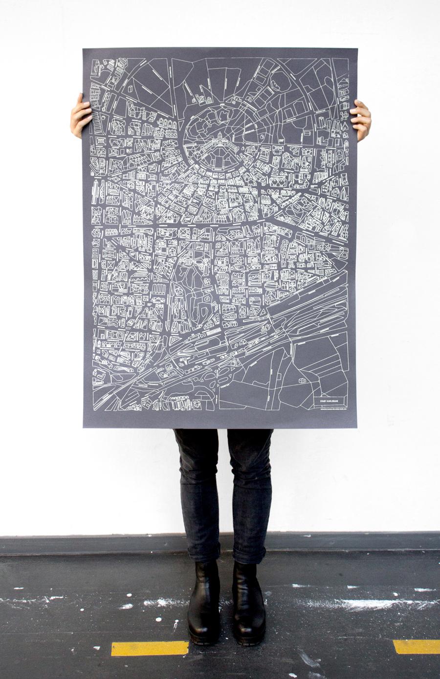 Karte Karlsruhe.Karlsruhe Karte Von Larissa Und Michelle Mantel