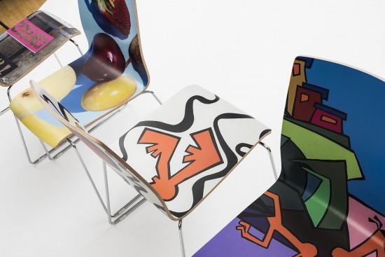 Designstühle mit Fotomotiven. Foto: Foto: arssedia